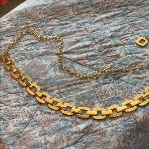 Chico's gold chain link belt